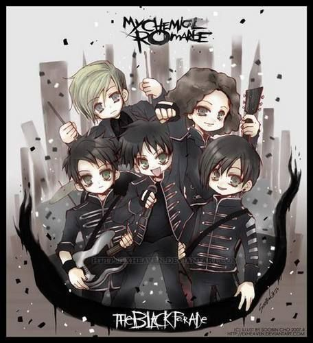 My Chemical Romance Fan Art The Black Parade Is Chibi My Chemical Romance Black Parade Anime