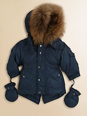 533319402c8 Add Down Infant's Fur Trim Puffer Jacket Seriously what toddler ...