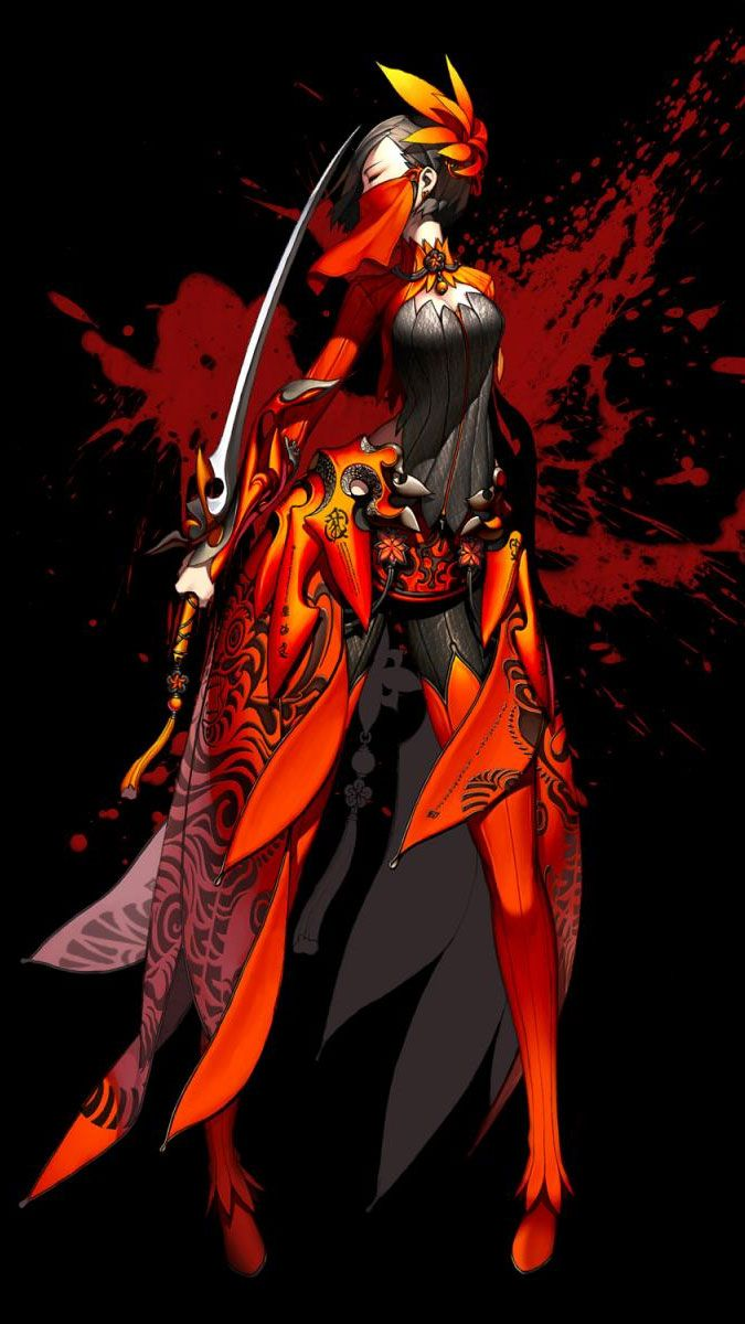 Anime Characters Born On February 7 : Official blade and soul concept art promotional posters