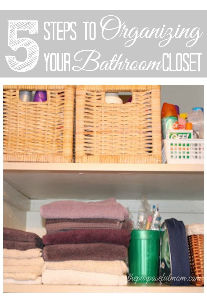 Photo of Five Steps to Organizing and Simplifying your Bathroom Closet – The Purposeful Mom
