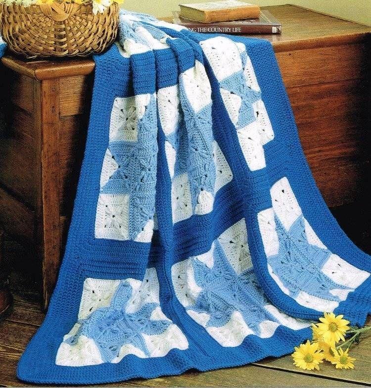 Variable Quilt Star Afghan Crochet Pattern Blanket Throw