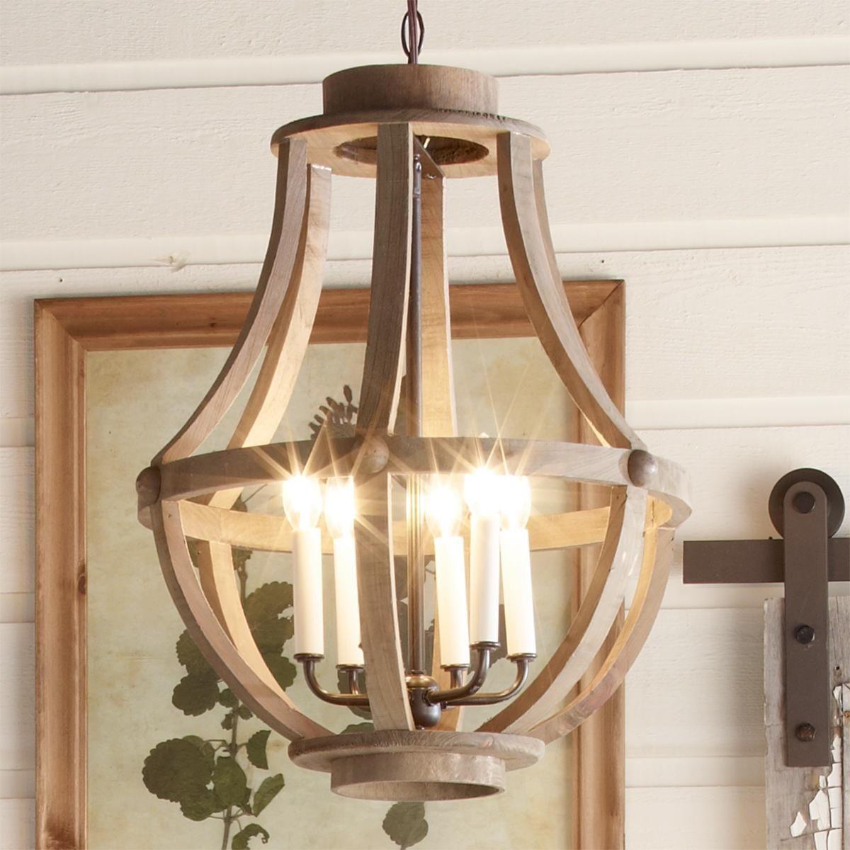 Rustic Wood Basket Lantern Large Lighting In 2019
