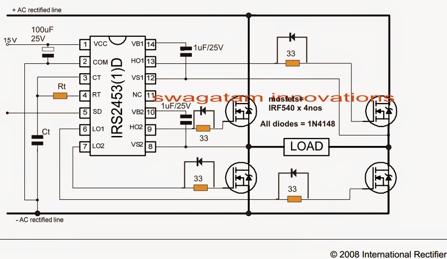 ee9b0b706e7656852af58537a84be360 full bridge inverter circuit png (897�520) ir2153 pinterest solar panel inverter circuit diagram at gsmportal.co