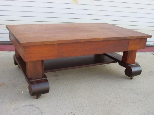 Antique Furniture American Antique Empire Coffee Table Mahogany from  mrbeasleys on Ruby Lane - American Antique Empire Coffee Table Mahogany Furniture Antique