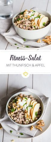 Fitness Thunfischsalat mit Apfel und Walnüssen   - Fisch & Meeresfrüchte - #Apfel #Fisch #Fitness #M...