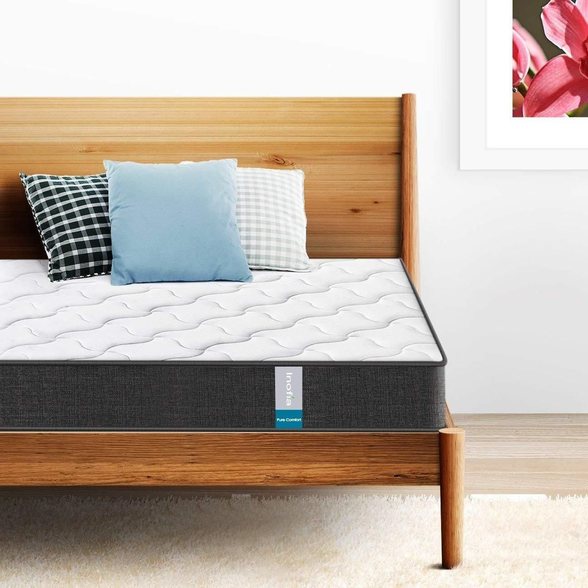 Inofia Twin&Full&Queen Size Memory Foam and Spring Hybrid