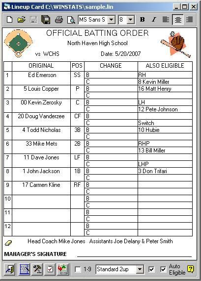 line up card baseball New ADVANCED CUSTOM LINEUP CARD CREATOR in - baseball roster template