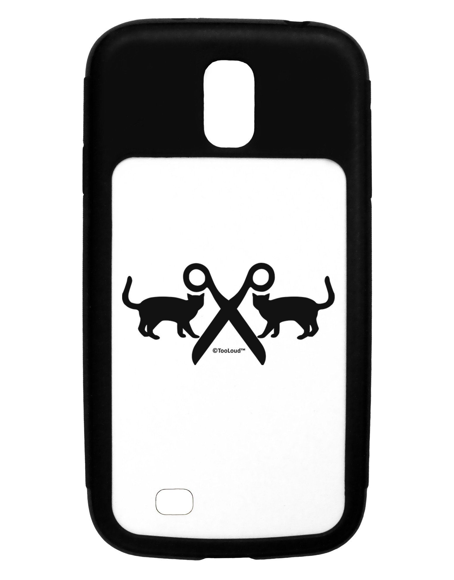 Two Cats With Scissors Galaxy S4 Case by TooLoud