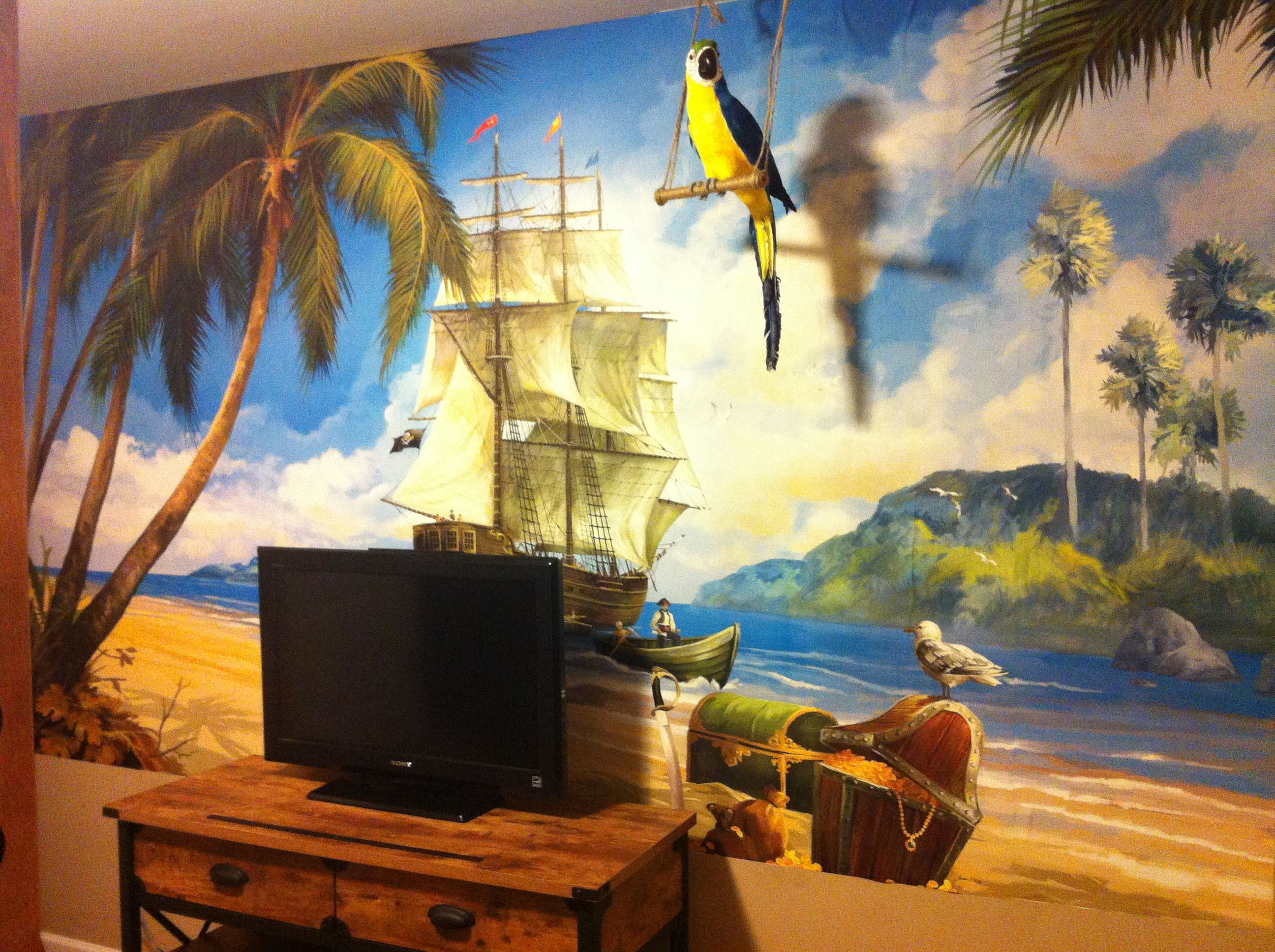 pirate wall mural my bedroom pinterest wall murals environmental graphics egi pirates wall mural