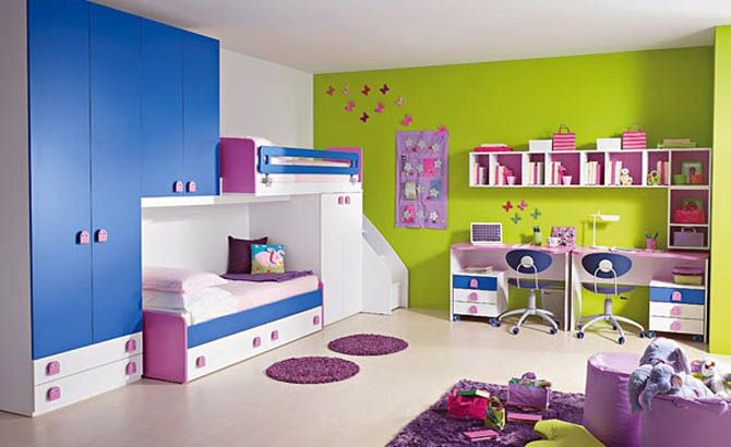 Purple Rooms For S Interior Design Blue And Green Kids Room