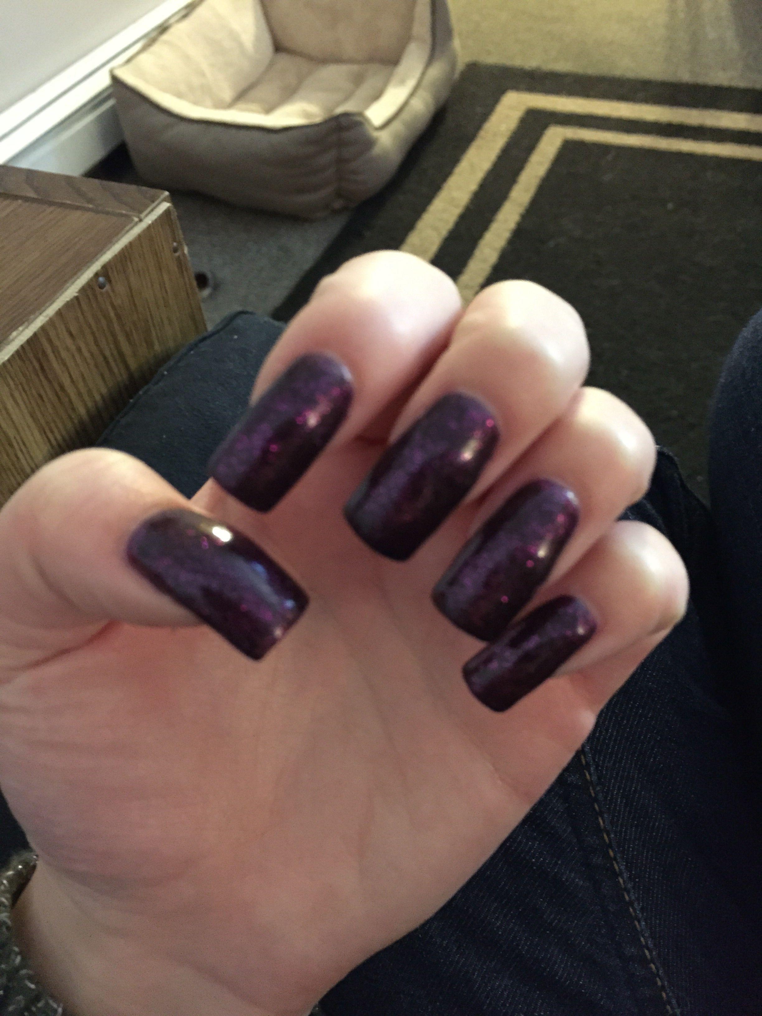 Nails. Purple. Fake nails. Gel nails. Long nails. | Nail design ...