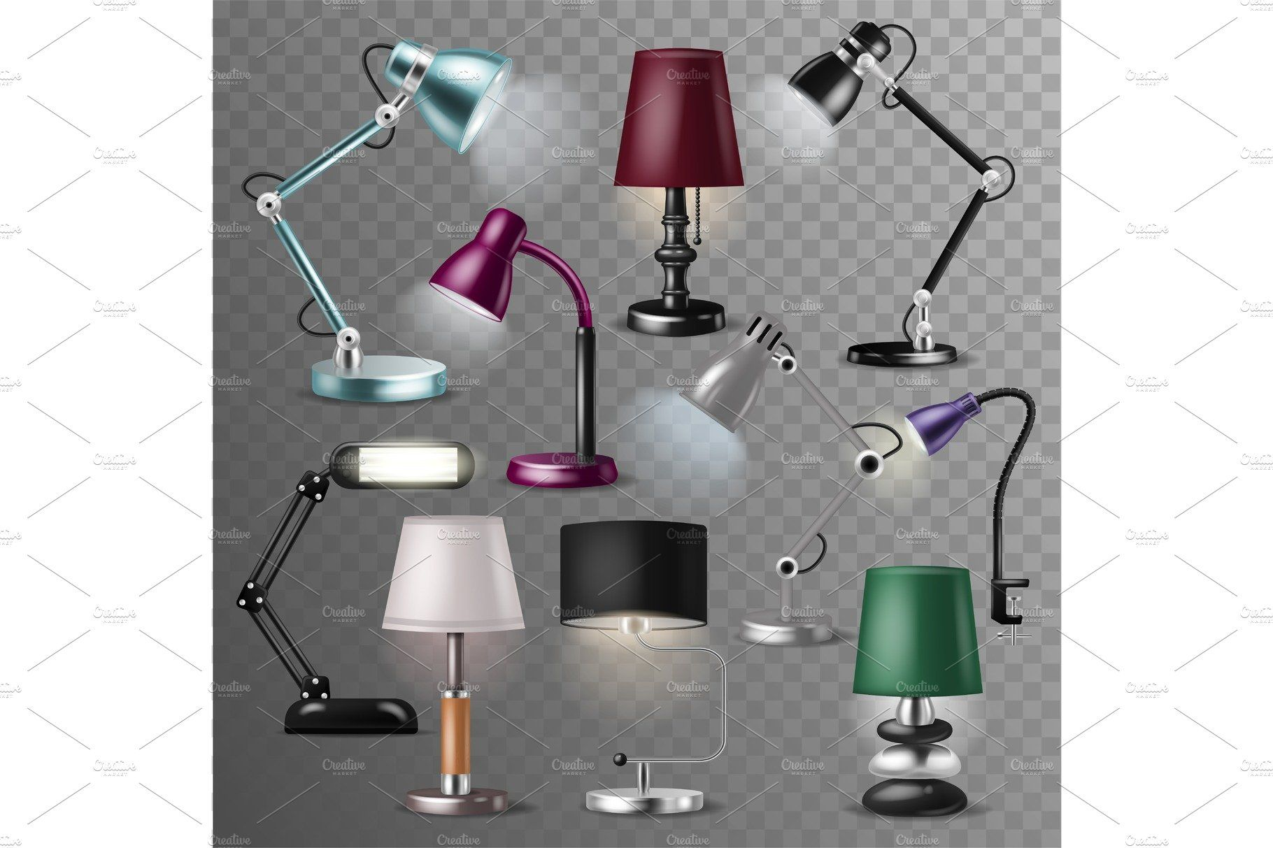 Table Lamp Vector Desklamp And With Images Lamp Table Lamp Reading Lamp