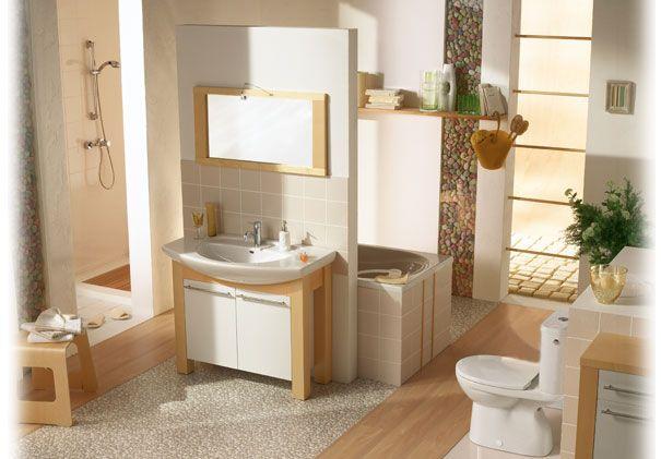 Petite bete beige salle de bain douche italienne dans petite salle de bain salle de bains soit - Petite salle de bain douche italienne ...