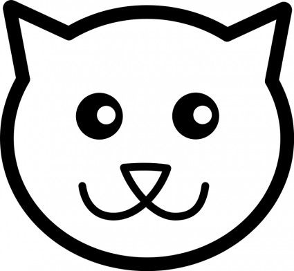 Cat Line Art Vector Clip Art Free Vector For Free Download Emoji Coloring Pages Cat Outline Cat Template