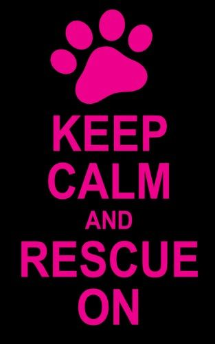 Pet Rescue Sticker Keep Calm and Rescue On with Paw Print Vinyl Decal | LilBitOLove - Housewares on ArtFire