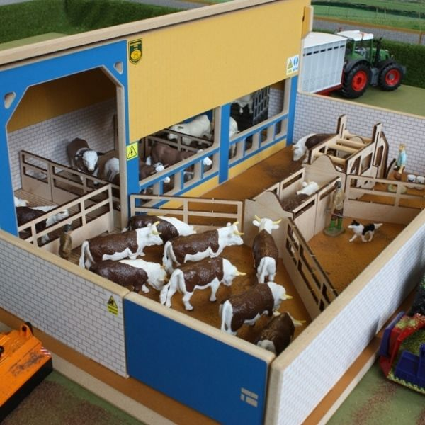 Wooden toy farm fence wooden cattle handling unit for Architecture models for sale