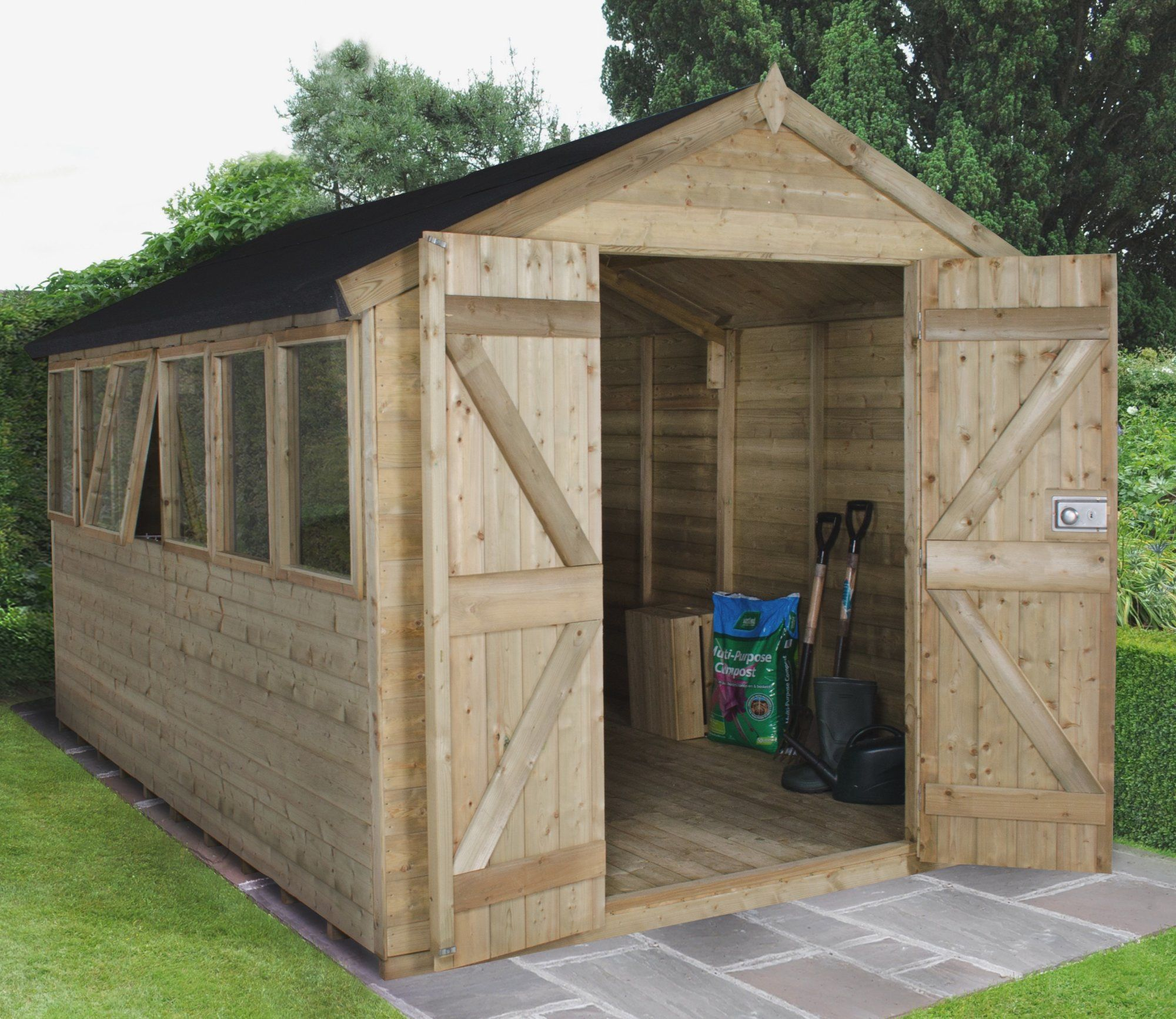 Forest 8ft x 12ft Tongue & Groove Shed | Garden projects and Gardens