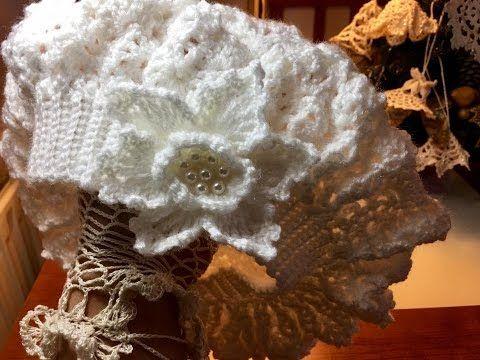 Gorro a crochet en PUNTO HOJITAS EN RELIEVES paso a paso TODAS LAS TALLAS -  YouTube 47cd78718dc