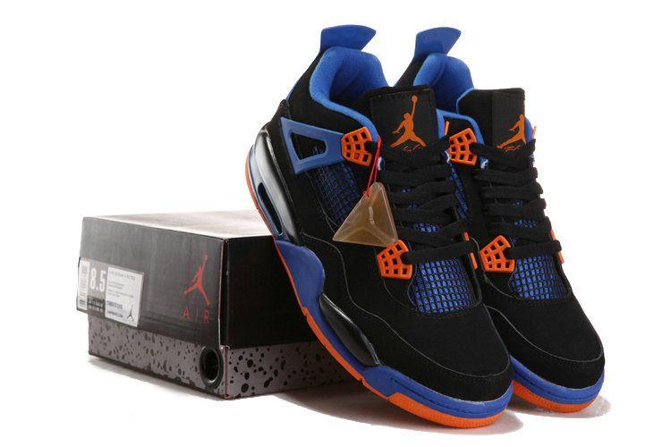 eedccbbf3ea Knicks Jordan 4 Cavs Black Orange Blaze Old Royal 308497 02   Newest ...