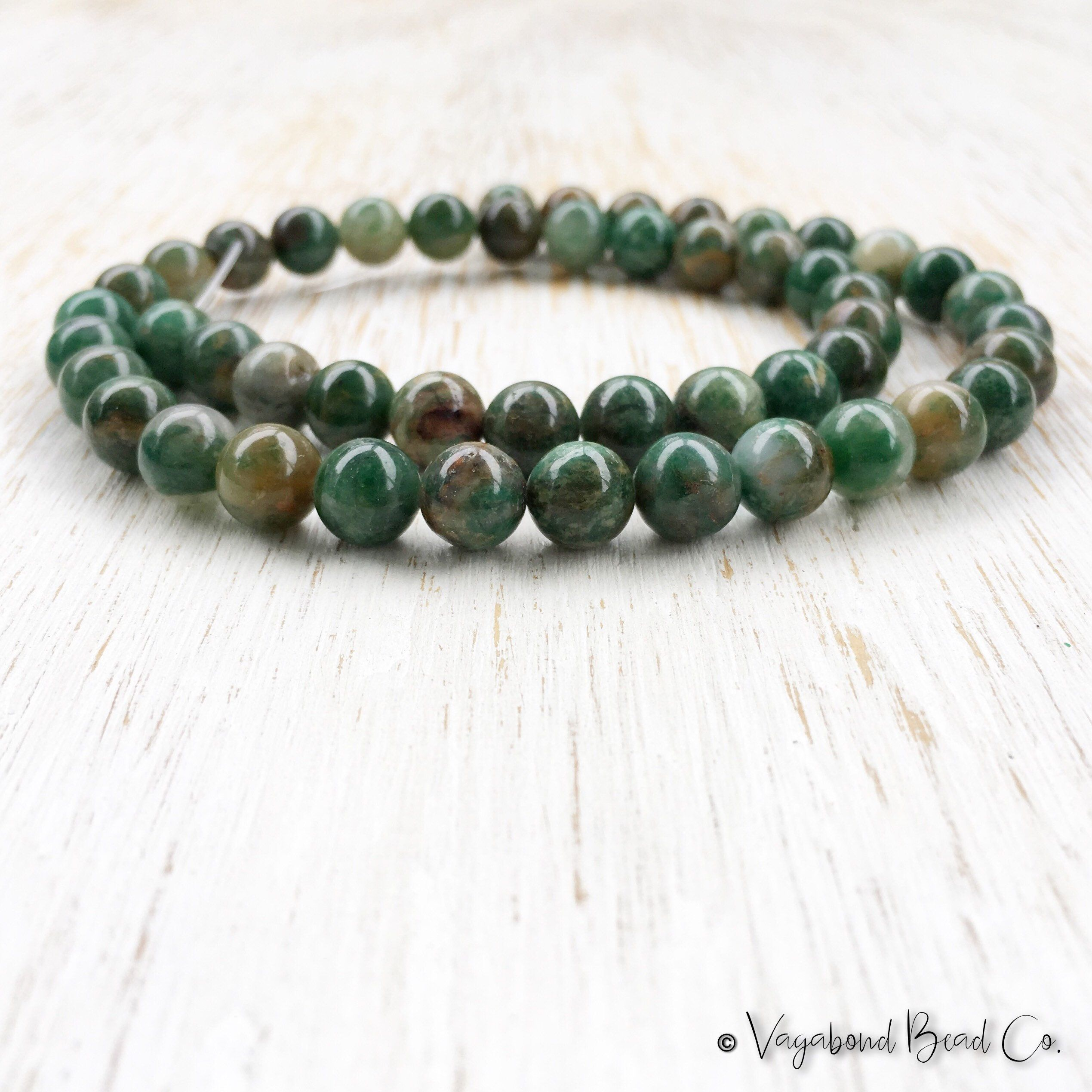 beads malachite etsy green mala mishkasamuel necklace jade aventurine products