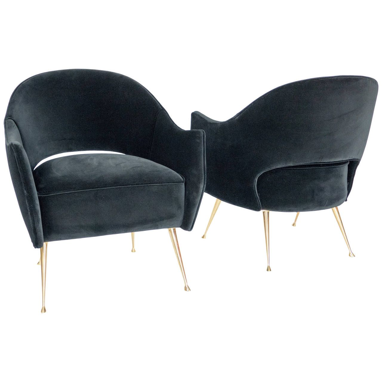 Pair of Briance Side Chairs | From a unique collection of antique and modern armchairs at https://www.1stdibs.com/furniture/seating/armchairs/