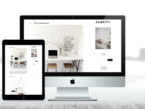 Wordpress Responsive Theme - Clarity by Jackie Ayr on Creative Market