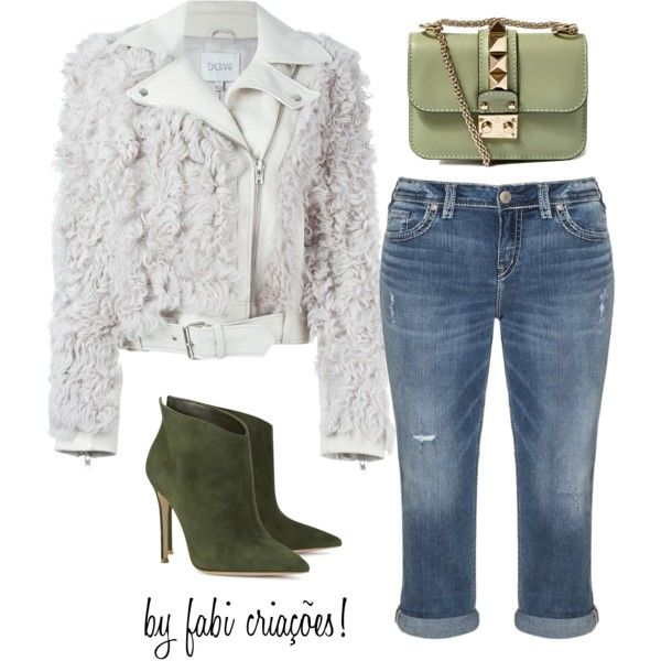 Luxo by fabipcandido on Polyvore featuring moda, Dagmar, Silver Jeans Co., Gianvito Rossi and Valentino
