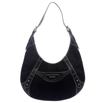 Givenchy Black Canvas Signature Hobo