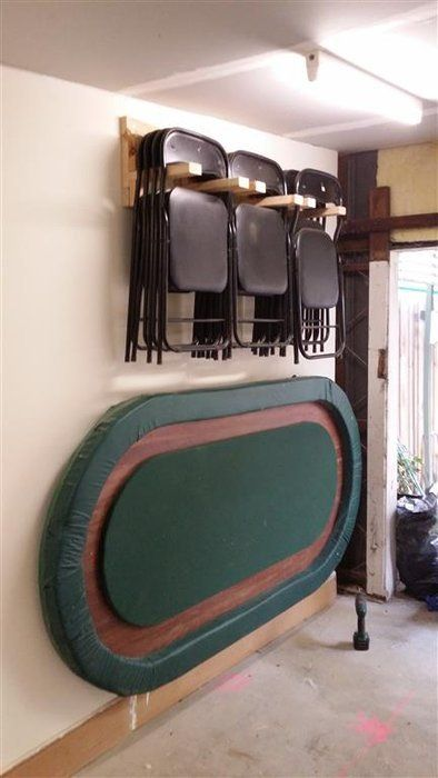 Scrap Wood To Hanging Chair Rack For Poker Night In The