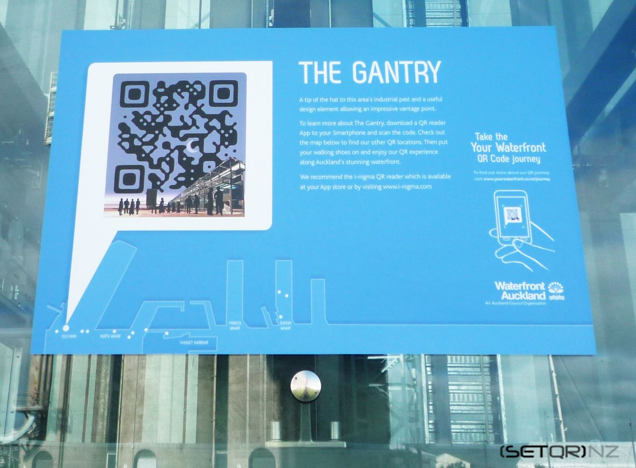 AUCKLAND WATERFRONT The Gantry QR Code Signage
