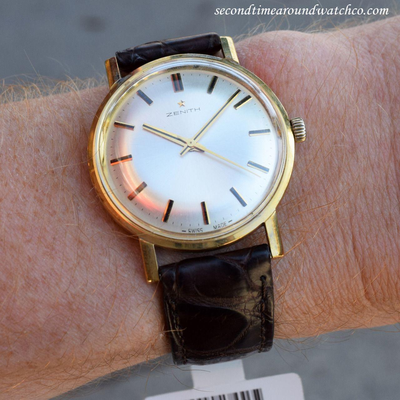7417b5c8cda4 Today I m wearing a 1973 vintage Zenith dress watch with an original ...