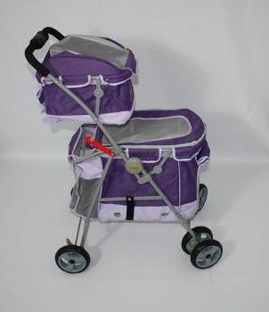 Gabriele Zechel - Hundekörbe, Le - Hundekinderwagen Duo Purple 2 100 x 51 x 74 cm bis 17 kg