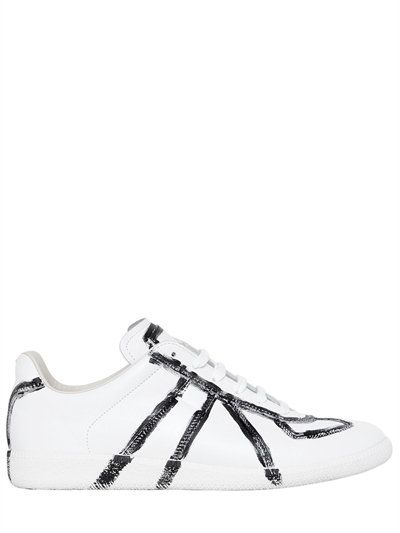 28565b3dbf11c5 MAISON MARTIN MARGIELA REPLICA HAND-PAINTED LEATHER SNEAKERS