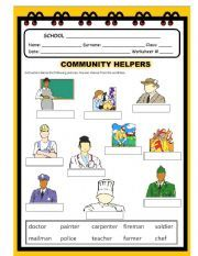 English worksheet: Community Helpers Act.#1 | Projects to Try ...