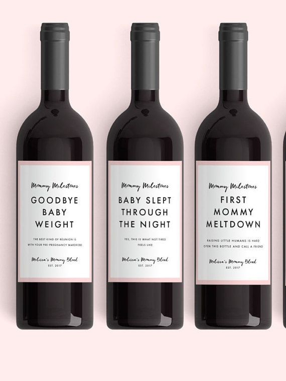 Want an original (and delicious) way to show a mom-to-be your love - free wine label design