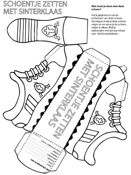Kleurplaten Sinterklaas Schoen Zetten.Schoentje Zetten Paper Knutselen Sinterklaas Sinterklaas Sint