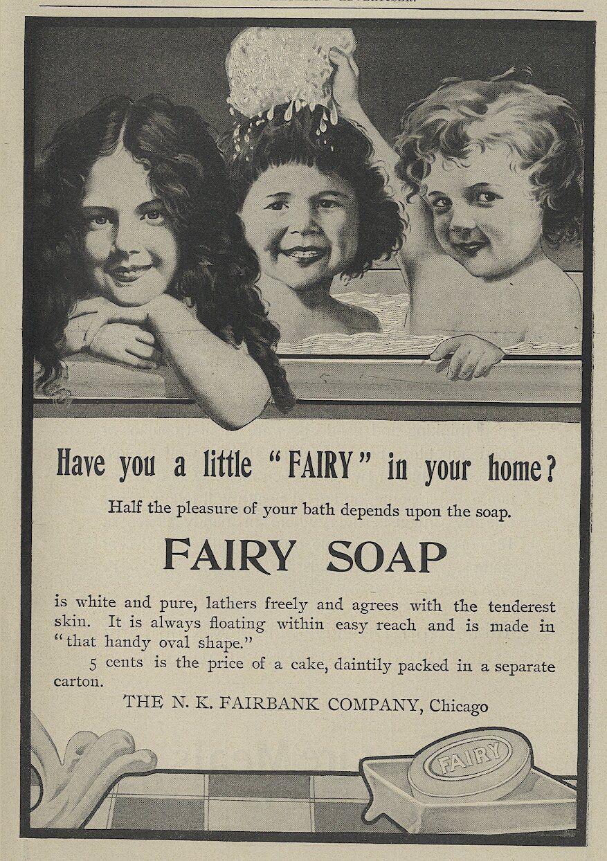 Vintage bathroom ads - 1904 Fairy Soap Print Ad Has Three Cute Girls In Bath Cute For Bathroom Art