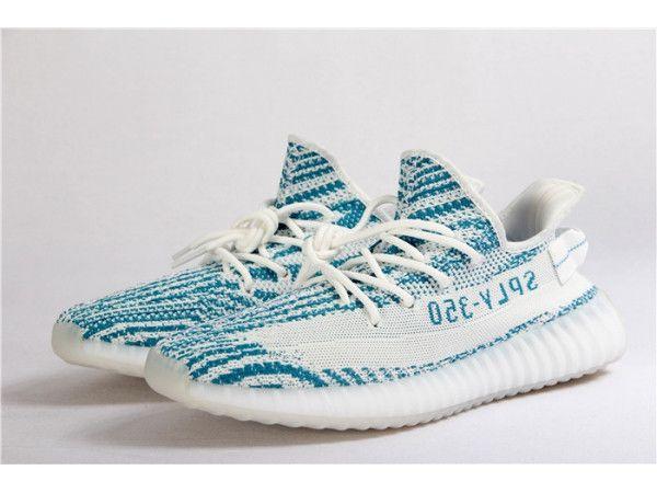a44579a8d99 Adidas X Yeezy Boost 350 V2 Teal Blue Zebra Sneaker