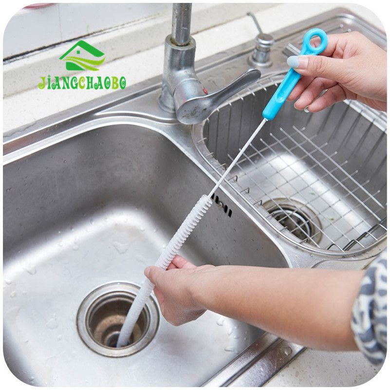 Drain Sink Cleaner Bathroom Unclog Tub Snake Brush Hair Removal Home Cleaning Brushes Tools Accessories