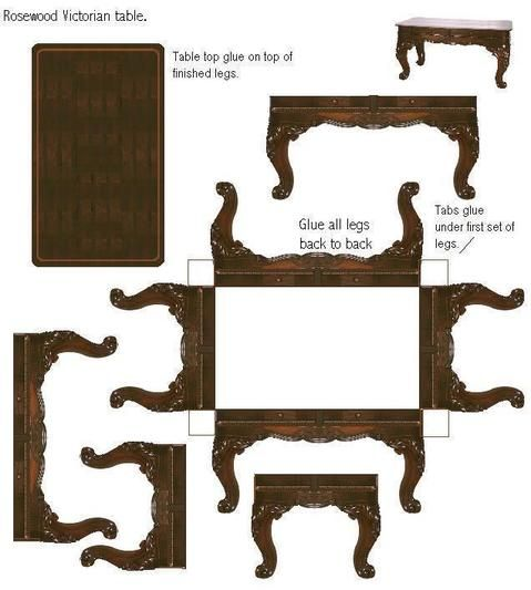 Muebles para armar en miniatura pinterest for Crear muebles 3d