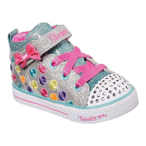664ea81d736d Infant/Toddler Girls' Skechers Twinkle Toes Shuffle Lite Cutesy Bows High  Top Sneakers in 2019   Products   High tops, Fabric shoes, Girls high tops