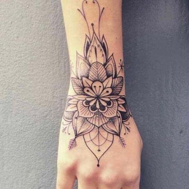 Tattoo Mandala Woman Forearm And Hand Hand Tattoos For Women Wrist Tattoos Feminine Tattoos