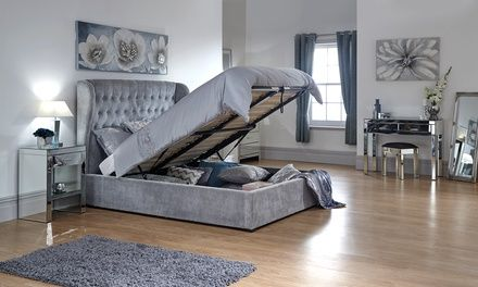 Tremendous Winged Ottoman Bed Groupon Bedroom In 2019 Ottoman Bed Lamtechconsult Wood Chair Design Ideas Lamtechconsultcom