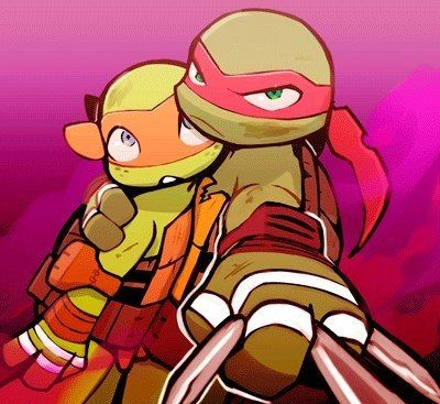 Mikey and Raph - Brotherly Love...