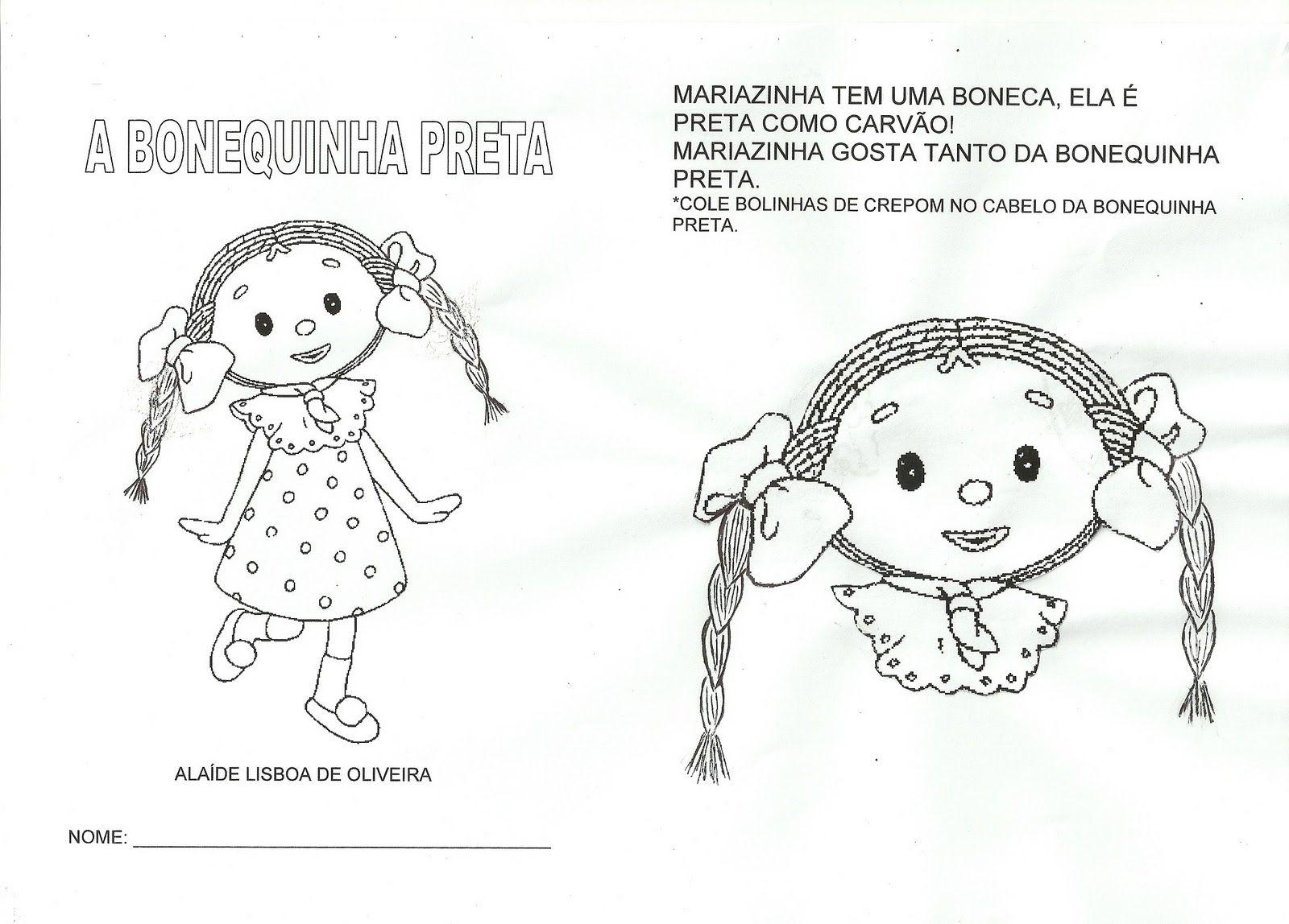 Projeto A Bonequinha Preta Boneca Preta Desenhos De Bonecas
