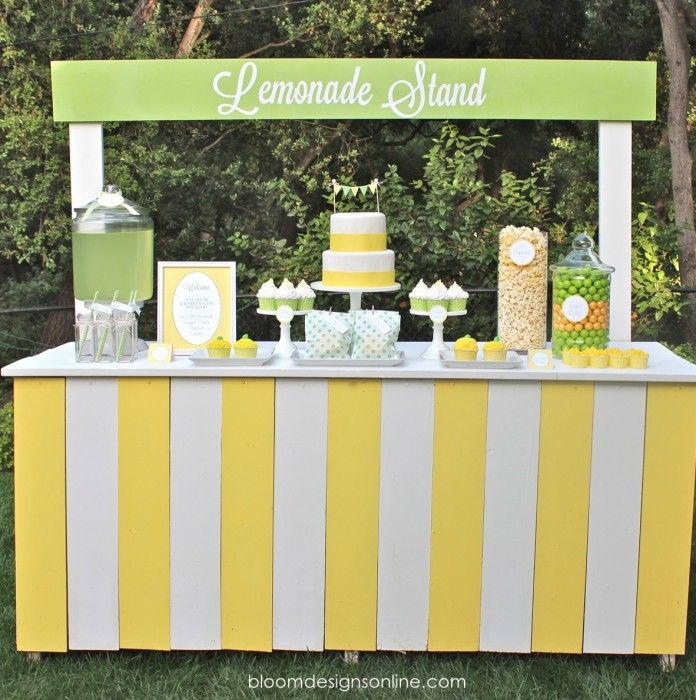 Lemonade Stand Bake Sale Party. We made simple items ...