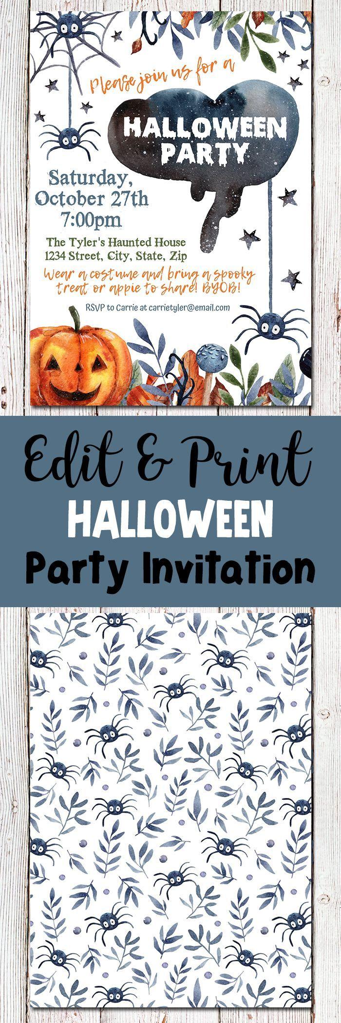 halloween invitations printable halloween party invitations