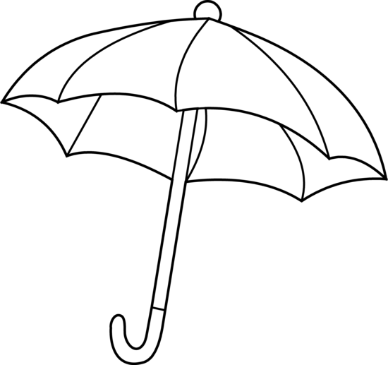 Umbrella clipart black and white free clipart images ...