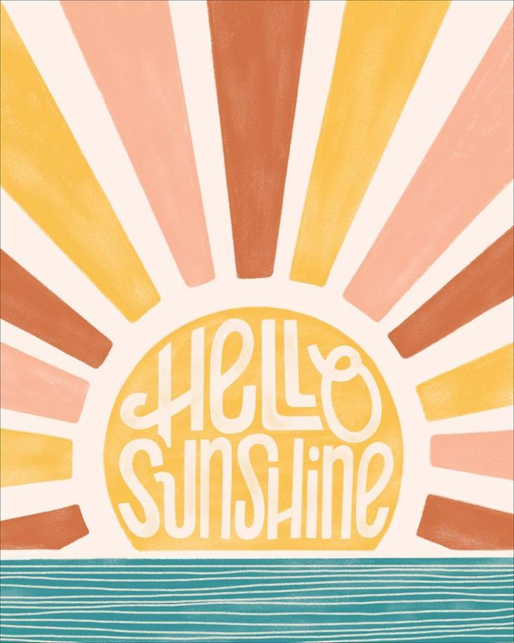 Hello Sunshine Medium Art Print in 2020 | Kleine leinwand kunst, Kunst hintergrund und Collage hinte