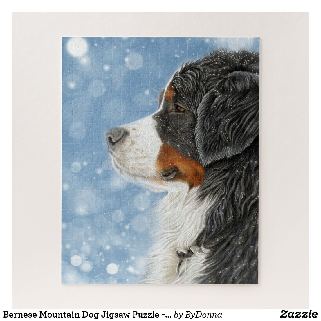 Bernese Mountain Dog Jigsaw Puzzle Ideal Gift For Dog Lovers Bernese Christmas Gifts And Decorations Bernese Mountain Dog Mountain Dogs Dog Art